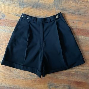 Diane Von Furstenberg Black High Waisted Shorts